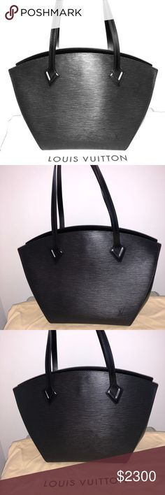 1b870915813 Louis Vuitton St Jacques Epi Noir Tote RARE, beautiful, mint condition  black Epi Leather