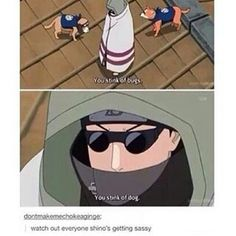 Shino Aburame...let's not forget he's on the same team as Kiba Inuzuka and Akamaru so he would know