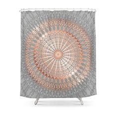 Society6 Rose Gold Gray Mandala Shower Curtain 71 By 74 Affiliate