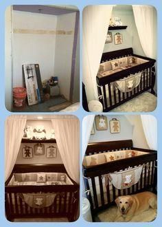 Crib in closet space