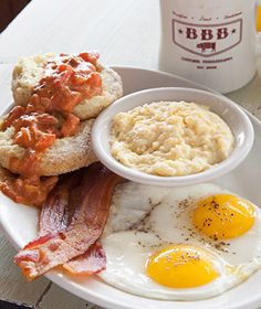 "Best Breakfasts Around the World: Big Bad Breakfast, Oxford, MS Southern chef John Currence's motto?"" Flour biscuits slathered with sausage gravy and the burrito filled with house-made chorizo will have you praying for more. Breakfast Around The World, What's For Breakfast, Breakfast Recipes, Sausage Gravy, Best Places To Eat, Recipe Of The Day, Foodie Travel, The Best, Dining"