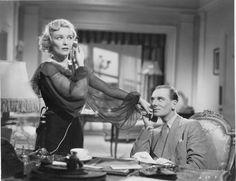 Madeleine Carroll & John Gielgud in Hitchcock's Secret Agent (1936)