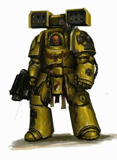 Imperial fist 1st company terminator with cyclone launcher