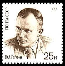 Stamp: Yury Gagarin in uniform (Soviet Union, USSR) Anniversary of First Man in Space) Mi:SU 6114 30th Anniversary, Soviet Union, Postage Stamps, Nasa, Movies, Movie Posters, Space, Russia, Google