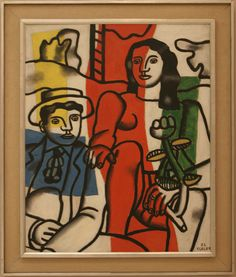 Fernand Léger (1881-1955) Two Lovers in the Landscape, 1952, oil on canvas