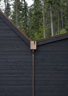 Stone Creek Camp by Andersson Wise Architects Like the black cladding and guttering finish