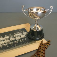 Silver Plate Vintage Cricket Trophy from England - 1938  - Silver Vintage Loving Cup - Sports Memorabilia by FanshaweBlaine on Etsy