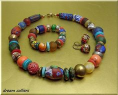 Buntes Afrika - Schmuckset  Sonderpreis von Dream-Colliers auf DaWanda.com