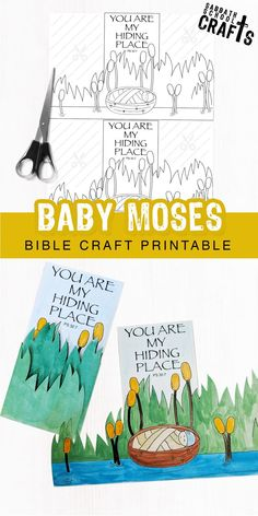 Need a quick and easy Bible craft for your Sabbath school / Sunday school class . Need a quick and easy Bible craft for yo. Preschool Sunday School Lessons, Preschool Bible Activities, Sunday School Crafts, School Fun, Youth Activities, Baby Moses Crafts, Moses Bible Crafts, Bible Crafts For Kids, Bible Lessons