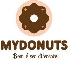 Logo MYDONUTS - versão preferencial chocolate.