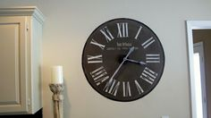 Painted a Clock on my Wall… (It works too!)