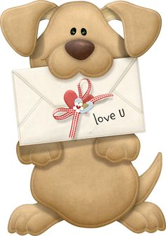 Picture Love Valentine'S Dog Valentine You Puppy, Clipart Png, Cute Clipart, Cute Images, Cute Pictures, I Love You Pictures, Scrapbooking, Clip Art, Cute Teddy Bears, Love Valentines