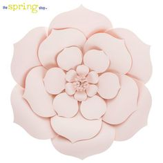 Pink Begonia Flower Wall Decor - Extra Large