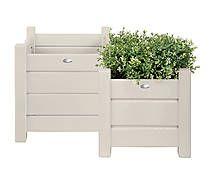 Set di 2 portavaso in legno Lilly bianco - max 40x40x40 cm