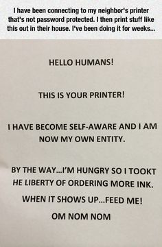Printer Has Become Self-Aware // tags: funny pictures - funny photos - funny images - funny pics - funny quotes - #lol #humor #funnypictures