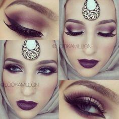 #fall makeup look #purples #mac #sugarpill