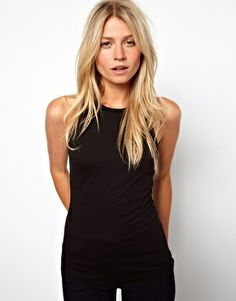ASOS Vest with High Neck in Modal Mix