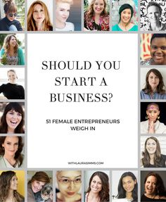 Should you start a business? It's a big question, so I asked 50 successful entrepreneurs to share their advice on what you need to think about before you decide if you should start a business (I chimed in, too). They all answered this question: What Business Advice, Business Entrepreneur, Business Planning, Business Marketing, Online Business, Business Website, Business Software, Business Coaching, Business Motivation