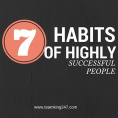 7 Habits of Highly Successful People - WATCH VIDEO here -> http://makeextramoneyonline.org/7-habits-of-highly-successful-people/ -    FREE Webinar: Ray Higdon's Proven 1-2 Punch to Make Money on 93% of the Prospecting Calls You Make, and Monetize Every Single Thing You Do… Register here:  They're trailblazers, they're trendsetters, they are setting the bar high? Who are they?  They are our success...