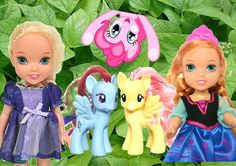 My Little Pony Meets Anna and Elsa in the garden and play together Anna ...
