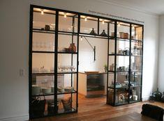 Custom Kitchen Glass Cabinet Vasastan/Stockholm #GlassShelves