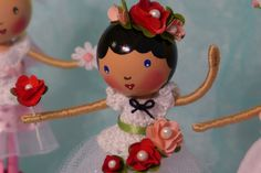 Special order of the cutest clothespin dolls
