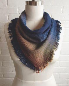 """""""Cascadia"""" handkerchief scarves are available today at the @allthingsprettymarket #crimsonclover #weaving #woven #handweaving #handwoven #handweaver #weaver #weaversofinstagram #poncho #shawl #wrap #allthingspretty #reddeer #etsy #etsyseller #etsyshop #etsyhandmade #etsystore"""