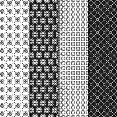 Download Digital Paper Pack Garden Party Black & Red Online | Gidget Designs