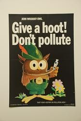 """Woodsy Owl"" Anti-Pollution Poster 