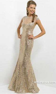 015 Shimmery Prom Dress Mermaid Rhinestone Beaded Neckline Floor Length Lace http://www.ikmdresses.com/2014-Shimmery-Prom-Dress-Mermaid-Rhinestone-Beaded-Neckline-Floor-Length-Lace-p85294