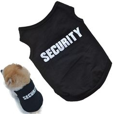 2016 Newly Design SECURITY Black Dog Vest Summer Pets Dogs Cotton Clothes Shirts Apparel cat clothes for dogs cats vest T-shirts #>=#>=#>=#>=#> Click on the pin to check out discount price, color, size, shipping, etc. Save and like it!