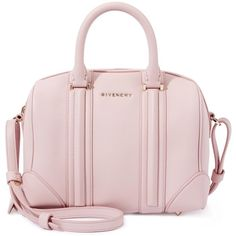 Givenchy Lucrezia light pink mini leather tote found on Polyvore