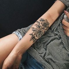 48 Beautiful Rose Tattoo Ideas For Women Revelist, Flower Tattoos What They Mean Studio City Tattoo Los. 12 Seriously Pretty Birth Flower Tattoos To Celebrate Yourself. Trendy Tattoos, Cute Tattoos, Body Art Tattoos, New Tattoos, Small Tattoos, Tattoos For Women, Sleeve Tattoos, Tatoos, Arm Tattos