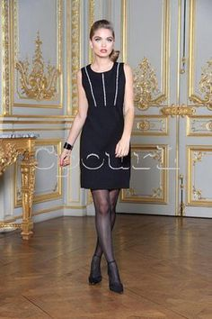 Robe sans manche milano & strass Nana Baila sur cpourl.fr #cpourl Glamour, Black, Dresses, Fashion, Trendy Outfits, Dress Skirt, Little Black Dresses, Rhinestones, Dress Ideas