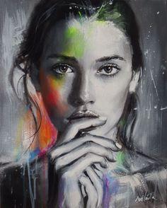 Catawiki Online-Auktionshaus: Ewa Switala - The Journey Photo Portrait, Portrait Art, Face Art, Lovers Art, Art Pictures, Art Girl, Amazing Art, Design Art, Pop Art