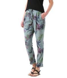 Damen-Hose mit Palmen-Print