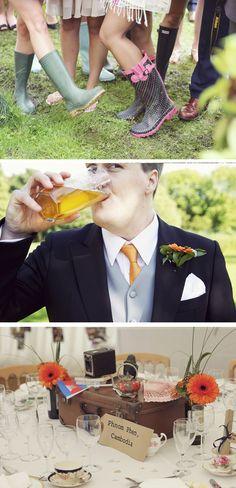 martha & george: {Amy & Justin} Vintage Travel Inspired Outdoor Wedding