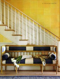 In Good Taste:  Richard Hallberg Design - adore the black and white settee