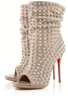 Christian Louboutin pearl booties (high heel ankle boots) in Ivory - yum yum