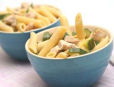 Penne+mit+Huhn-Zucchini-Ragout
