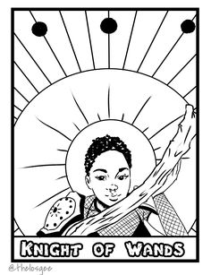 Free Tarot Card Coloring Page From Carlos Gees Tales Book