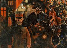 "George Grosz, ""The Engineer Heartfield"" currently hangs in the Museum of Modern Art in New York. Carlos Marx, George Grosz, New Objectivity, Berlin, Art Students League, Digital Museum, Museum Of Modern Art, Types Of Art, Caricature"