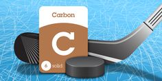 Originally hockey sticks were made of wood. Today many are made of carbon graphite. Carbon-graphite is a strong yet lightweight material woven from carbon fiber. ~ SuperFlash Elements for iPad! https://itunes.apple.com/us/app/superflash-elements-periodic/id931215207?mt=8