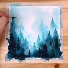 Diy Art Painting, Art Drawings, Watercolor Art Lessons, Watercolor Paintings, Amazing Art Painting, Creative Painting, Painting Art Projects, Canvas Art Painting, Diy Canvas Art