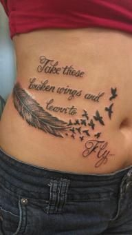 Take those broken wings and learn to fly...#ink #blackbird