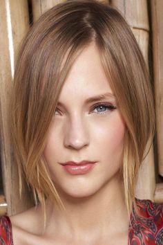 nice Экстравагантная косая челка (50 фото) —  разнообразные модные стрижки