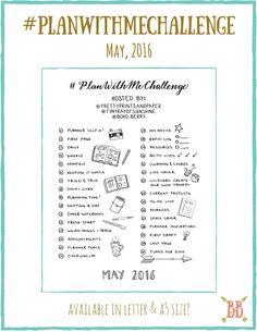 May #PlanWithMeChallenge