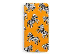 Zebra iPhone 5c case, Kawaii iPhone 5c Case, Plastic Phone Case, Gift ideas, Womens 5c case, Orange 5c case, Animal 5c case, Cute 5c Case