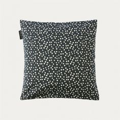 Cushion cover in dark charcoal grey. Zoe cushion cover has a print with a hand drawn design which is why no spot looks the same. A playful addition to all sofas. Size:40X40 cm. Country of origin: India. Inner cushion sold separately.