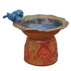 Pinch pot bird bath